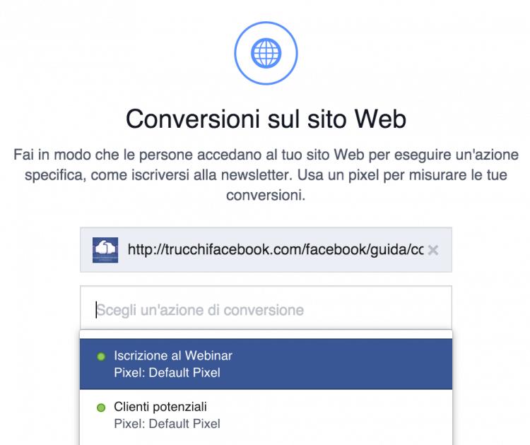 conversioni sito web