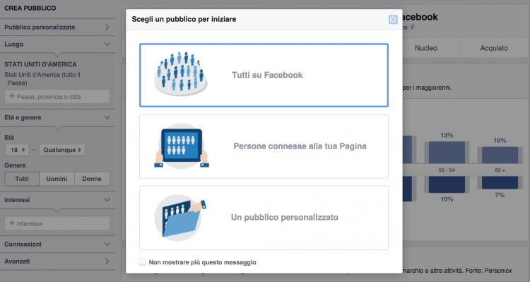 Insights sul pubblico di Facebook
