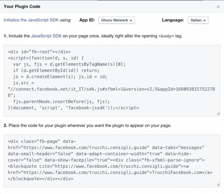 codice page plugin