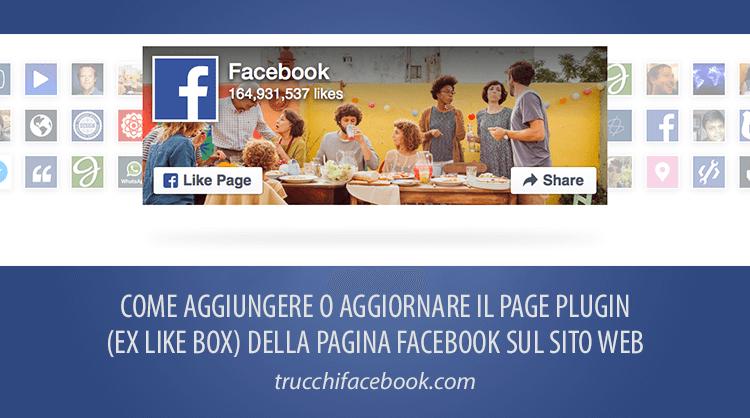 Come aggiungere o aggiornare il Like Box della Pagina Facebook sul Sito Web