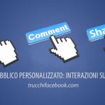 Nuovo Pubblico Personalizzato: Interazioni su Facebook