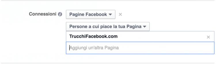 connessioni mi piace facebook