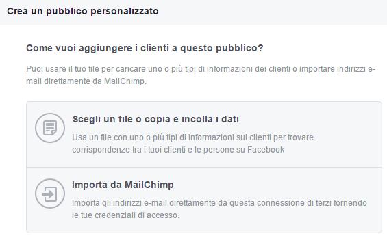 aggiungi clienti pubblico facebook