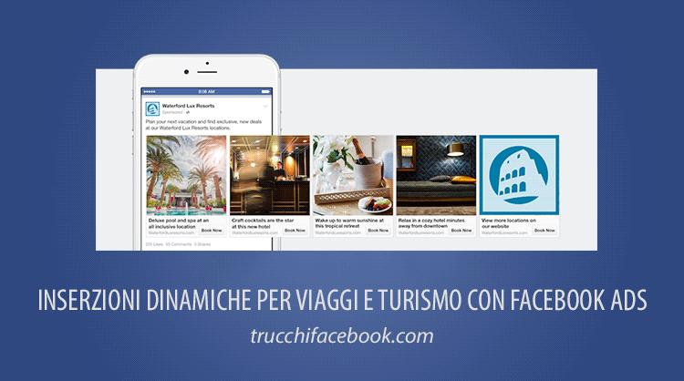 Come creare inserzioni dinamiche su Facebook per viaggi e turismo