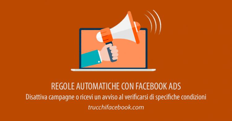 Regole automatiche di Facebook Ads