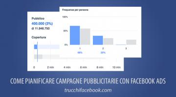 Come pianificare campagne pubblicitarie con Facebook Ads
