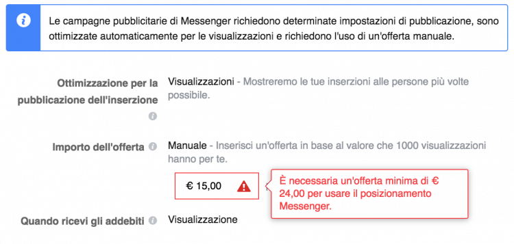 offerta-minima-inserzioni-messenger