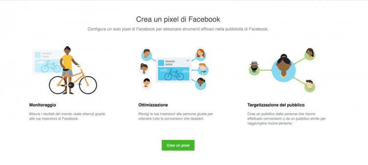 Creazione Pixel Facebook