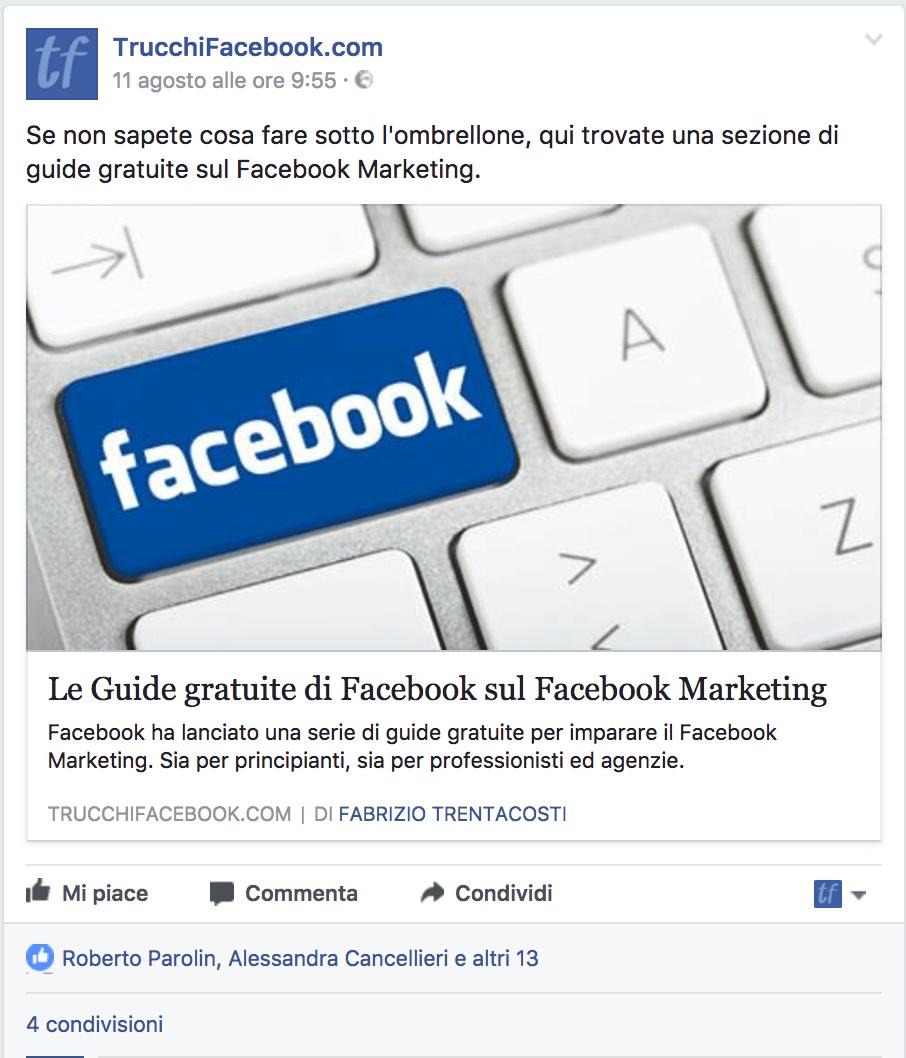 post link Facebook