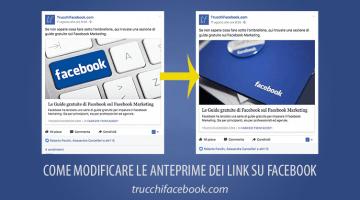 Come modificare le anteprime dei link su Facebook